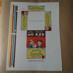 1964 Topps Nutty Awards Uncut Display Box Proof Sheet 15.25 X 21