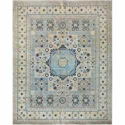 Handmade Modern Wool Rug Handknotted Traditional Area Rugs 9and039x12and039 Ft