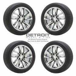 18 Buick Regal Pvd Bright Chrome Wheels Rims And Tires Oem Set 4 2010-2017 4119