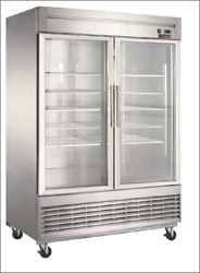Commercial Refrigerator D55r-gs2 2-glass Doors Bottom Mount Refer Free Shipping