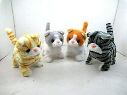 Walking Toy Cat Battery Operated Tail curling plus Cat with Random color