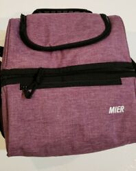 MIER Adult Lunch Box Insulated Lunch Bag Small Cooler Tote Bag for Men Women A07 $16.00