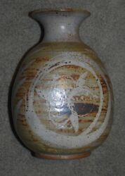 F. Carlton Ball1911-1992 Large Wax Resist Paddled And Thrown Vase - Signed