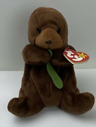 Seaweed The Otter Beanie Baby Rare/retired With Date Errors Near Mint With Tags