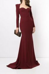 Nwt Alex Perry Ainsley Sweetheart Neck Crepe Gown