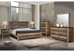 Coaster Furniture Sembene Queen 6 Piece Bedroom Set Rustic Antique