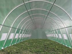 40and039x13and03946and039x13and039 Large Walk-in Greenhouse With Green Grid Pe Cover And Round Frame
