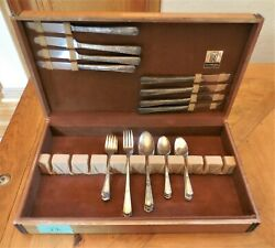 45 Piece J Rogers Xii Overlaid Is Silverplate Flatware Set - No Box