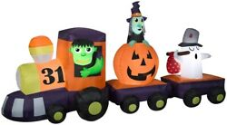 Halloween 11.5 Ft Ghost Pumpkin Monster Witch Train Airblown Lighted Inflatable