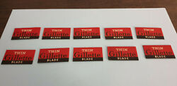 10 New Old Stock Made In Usa Thin Gillette Razor Blades.