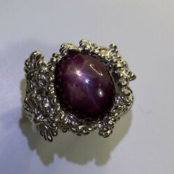 9.55ct Natural Star Ruby 925 Silver / 9ct 14k 18k Gold / Platinum Unisex Ring