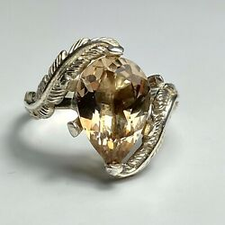 4.25ct Natural Imperial Topaz 925 Silver /9ct 14k 18k 18ct 375 585 750 Gold Ring