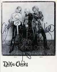 Dixie Chicks Signed Country Signer 8x10 Photo Picture Poster Autograph Rp