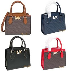 MICHAEL KORS MOTT MEDIUM MESSENGER MK SIGNATURE PVC LEATHER SATCHEL BAG $119.95