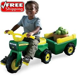 Kids Pedal Tractor Ride On Toys For 2 3 Year Old Boys Girls John Deere Toddlers