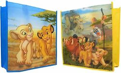 Set Of 2 Lion King Totes For Kids 15 x 13.5 x 6 inches. Grocery Party Gift Beach $8.99
