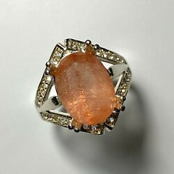 4.5ct Natural Strawberry Quartz With Hematite 925 Silver / 9ct 14k 18k Gold Ring