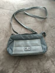 Roots 73 Canadian Canvas Crossbody Woman's Gray Bag $25.00