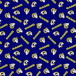 NFL LA Rams Licensed Cotton Fabric 1 2 Yard 58 60quot; Wide BTHY $6.95