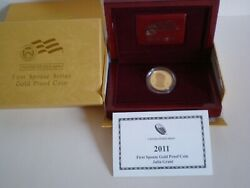 2011-w Julia Grant First Spouse 1/2 Oz Gold Proof Coin Pa3