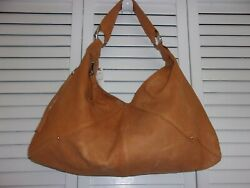 Hobo International Large Slouchy Brown Natural Distressed Leather Bag NWT $39.00