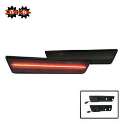 2pc Side Markers Bumper Side Rear Led Smoked Tinted 08-14 Dodge Challenger