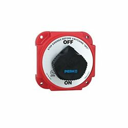 Battery Switch W/ Alternator Field Disconnect Heavy Duty Ignition Protected Red