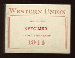 16t110s-16t111s Western Union Rare Specimen Booklet Of 7 Stamp Panes 16t111-1