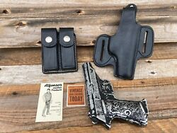Vintage Alfonsoand039s Plain Black Leather Owb Holster For Walther Pp Ppk Ppk/s Right