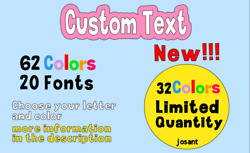 CUSTOM TEXT Vinyl Decal Tumbler Sticker Personalized Cup Name $1.55