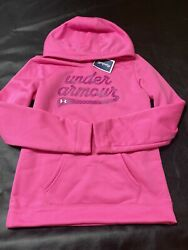 Under Armour Youth Large Girls Pink Hoodie Sweatshirt Hooded ***New*** $24.99