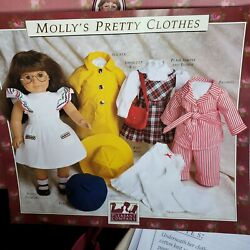 Vintage American Girl Mollys Pretty Clothes 18 Doll Patterns Partially Cut 1990