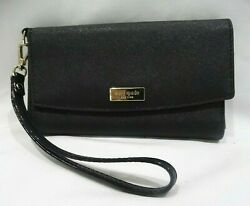 Kate Spade Black Saffiano Leather Phone ID amp; Card Wallet Wristlet Clutch Phone $25.00