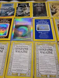 Vtg National Geographic Issue Lot Magazines Supplements Maps 1940-1990s + Extras