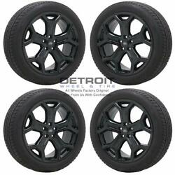 19 Ford Escape Gloss Black Wheels Rims And Tires Oem Set 4 2016-2019 10111