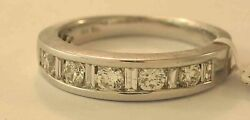 18k White Gold Diamond Wedding Band Ring Size 7 New With Tags