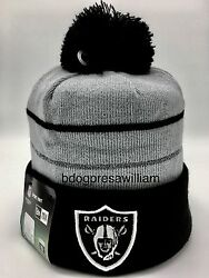 Brand New With Tags 2014 New Era Thanksgiving Day Oakland Raiders Beanie Hat