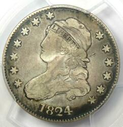 1824/2 Capped Bust Quarter 25c - Certified Pcgs Vf Details - Rare Date Coin