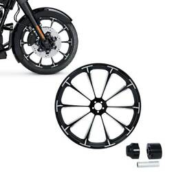 23and039and039 Front Wheel Rim Hub Single Disc For Harley Touring Road King Non Abs 08-20
