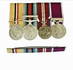 Full Size Copy Set, Op Telic, Afghan, Qdj, Army Lsandgc Medals And Pin Ribbon Bar