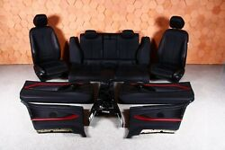 Bmw F32 M-package Interior Black Leather Seats Central Tunnel Heated Set Lhd