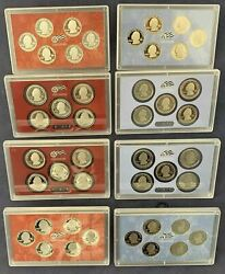 2009 And 2010 Silver And Clad State Quarter Proof Sets - No Boxes/coa - Free Ship Us