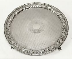 1846-1861 S Kirk And Son American Coin Silver Repousse Footed Salver 10in. 606.3g