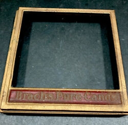 Antique Brachs Candy Tin General Store Metal Glass Lid For Display Case