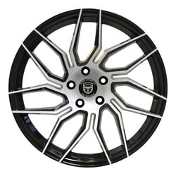 4 Hp2 20 Inch Staggered Black Rims Fits Ford Fusion 2006 - 2012