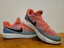 Nike Lunarepic Low Flyknit 2 And039hot Punchand039 Blue Pink [863780-600] Womenand039s Size 10