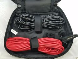 Test Leads 25 Ft Red And Black With Banana Plugs , Black Alligator,1kv, 16a