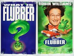 Flubber Lot Of 2 27x40 Original Ds Mint Rolled Movie Posters 1997 Robin Williams