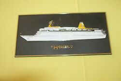 Home Lines Homeric Later Westerdam Vintage Plastic Plaque Made In England