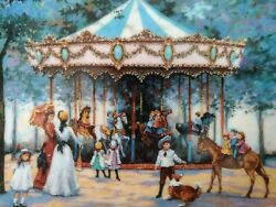 Franklin Mint Heirloom Collector Plate 'carousel Memories' By Sandi Lebron